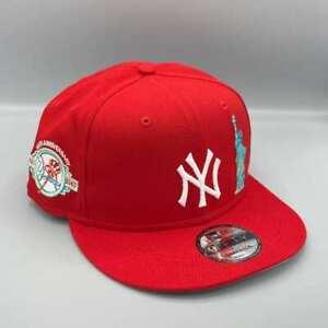 New York Yankees 100th Anniversary & Liberty 9FIFTY New Era Red Snapback Hat