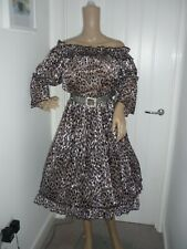 SEXY SISSY  ON OR OFF SHOULDER GYPSY LEAPORD PRINT DRESS AB CD LG TV COSPLAY