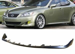 FOR 06-08 LEXUS IS250 IS350 OE STYLE PU BLACK POLY FRONT BUMPER LIP BODY KIT