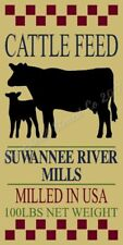 "* Primitive Stencil Item # 8262 J ~11""x20~ Cattle Feed"