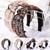 Ladies Tie Ear Headband Hairband Fabric Cross Knot Hair Hoop Bands Accessories