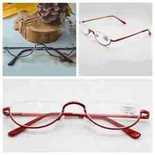 Half Moon Vintage Reading Glasses Spring Hinge 1.0 1.5 2.0 2.5 3.0 3.5 HOT