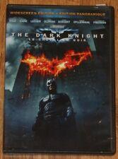 The Dark Knight (DVD, 2008, Widescreen, En/Fr/Sp) Heath Ledger, Christian Bale