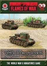 Flames of War Japanese Type 4 Ho-Ro Self-propelled Gun Platoon JBX08