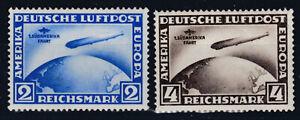 DR Zeppelin Südamerikafahrt Mi. Nr. 438 + 439 Wunderschöner Satz