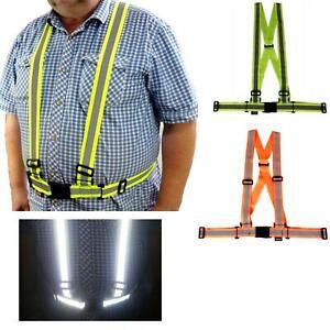 Reflective Motorcycle Hi Vis Bike Bicycle Vest Hi-Viz Work Road Safety Belt