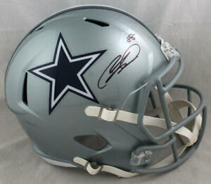 CeeDee Lamb Autographed Dallas Cowboys F/S Speed Helmet - Fanatics Auth *Black