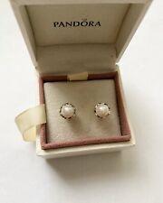 Pandora Silver White Freshwater Pearl Earrings Ale S925