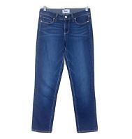 PAIGE Women's Size 27 Skyline Skinny Jeans Blue Dark Wash Stretches Slim Ankle