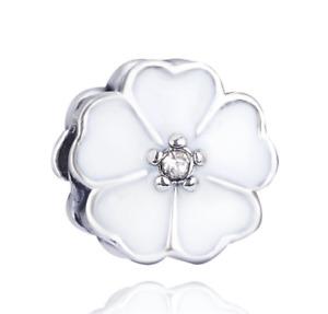 1pcs silver CZ European Charm Beads Suit Bracelet Necklace Pendant Chain