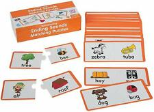 Ending Sounds Matching Puzzles (60 Pack) Educational - Teaching Aids
