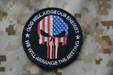 Z086 écusson patch god will judge our enemies we'll arrange the meeting punisher