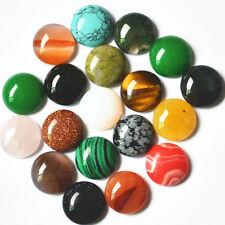 Wholesale 30pcs natural gemstone mixed round CAB CABOCHON stones beads 18*18mm