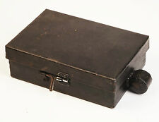 Storage Tin, Metal Lidded Heavy Duty Unusual Black Box