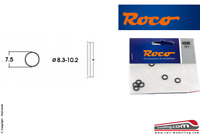 ROCO 40068 - H0 1:87 - Set 10 anelli aderenza ricambio gommini ruote 8.3/10.2mm