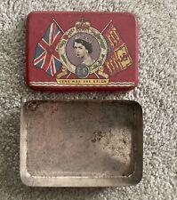 """Queen Elizabeth II 1953 Coronation - Souvenir Tin Montreal """"OXO"""""""