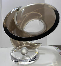 Large Mid Century Deco/Glam Shlomi Haziza Signd Abstract Art Lucite Sculpture 90