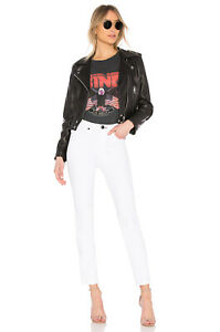 NWT Rag & Bone Women's High Rise Skinny Cigarette White Slim Fit Stretch Jeans
