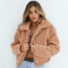 Women Winter Teddy Bear Fluffy Short Coat Fleece Fur Jacket Outerwear Casual Top