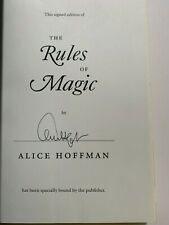 Alice Hoffman, Rules of Magic, signed 1st HB special edition