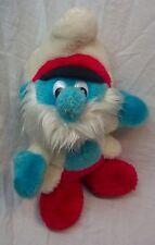 "VINTAGE Smurfs PAPA SMURF IN CAPTAIN OUTFIT 10"" Plush Stuffed Animal"