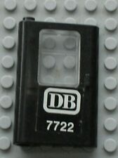 Porte LEGO TRAIN black door ref 4181 + Sticker / Set 7722 Battery Train Set