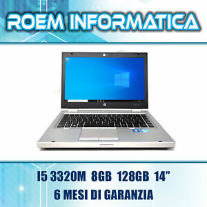 "HP ELITEBOOK 8470P I5 3320M 8 GB 128 GB 14"" WIN 10 GRADO A- 6 MESI DI GARANZIA"