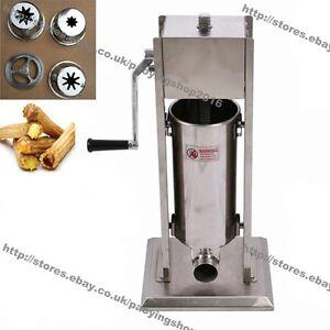 3/5/7/10/15L Stainless Steel Manual Spanish Donuts Churrera Churro Maker Machine
