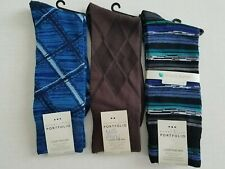 Perry Ellis Mens Luxury Soft Moisture Control Fashion Sz 7-12 Dress Socks