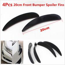 4Pcs Black ABS Car Front Bumper Fins Spoiler Canards Refit Kit 20cm Universal
