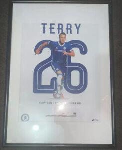 Official Chelsea Captain John Terry Signed Framed Poster