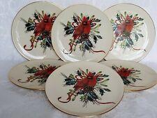 (6) Lenox Winter Greetings American Home China Catherine McClurg DESSERT PLATES