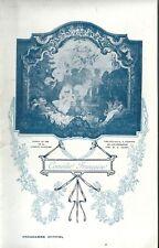 Programme théâtre Comédie Française 1909 Modestie Connais-toi