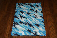 New Blue Camo Print #3 Fleece Dog Cat Pet Carrier Crate Pad Free S/H! Help Bcr!