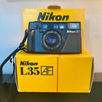 Boxed Nikon L35AF Compact Camera Almost Flawless,Film Tested Amazing Camera!