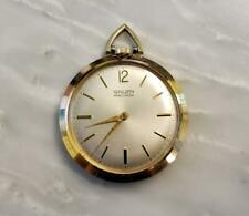 Vintage Gruen Precision Pocket Watch With Gold Plated Case ~ 3-E243