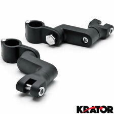 "1"" Engine Guard Footpeg Clamps Mounting Kit Fit For Harley Davidson Black"