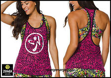 ZUMBA 2Pc.SET!! Mashed Up Reversible Bra Top + Burnout Tank w Silver Logo RARE!!