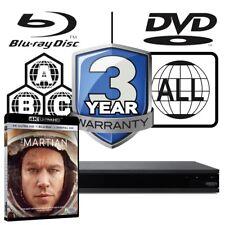 Sony UBP-X800 All Zone MultiRegion 4K Ultra HD Blu-ray Player & The Martian