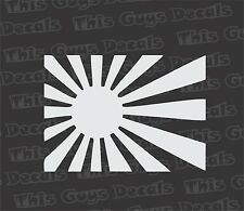 Japanese Sunburst Decal Car Truck vinyl Sticker JDM racing window flag dope sick
