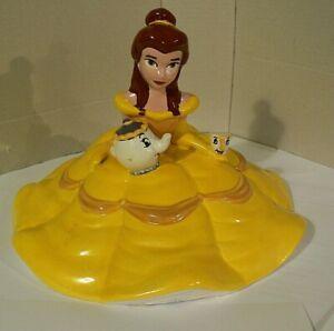 Vintage Walt Disney Beauty and the Beast Ceramic Belle Cookie Jar Lid Top