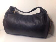 Henri Bendel Extra Large Black Leather Hobo Bag