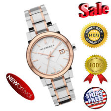NEW 100% Authentic Burberry Two-Tone Stainless Steel Ladies Watch BU9105