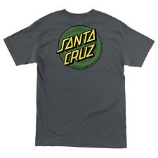 Santa Cruz COILED DOT Skateboard T Shirt CHARCOAL XL