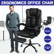 High Back Executive Computer Office Chair Gaming Chair Swivel Leather