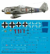 Peddinghaus 1/72 Fw 190 A-8 Markings Hans Dortenmann 2./JG 54 France 1944 2316