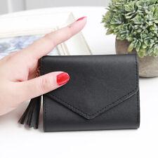 Billeteras pequeño para Mujeres Mini Cartera Billetera Plegable Corto Soporte para caja de tarjeta de crédito