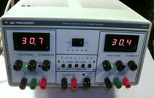 BK PRECISION DC POWER SUPPLY TRIPLE OUTPUT MODEL 1744 TESTED
