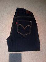 NEW-Levis Jeans Dark Straight leg classic Rise boot. 26 Demi curve.