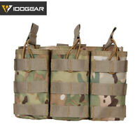 IDOGEAR Tactical Magazine Pouch Molle Triple MAG Carrier For 5.56 Paintball Camo